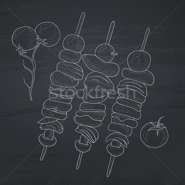 Shish kebabs on skewers. Stock photo © RAStudio