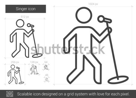 Man with walker sketch icon. Stock photo © RAStudio