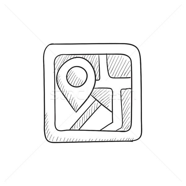 карта эскиз икона вектора изолированный рисованной Сток-фото © RAStudio