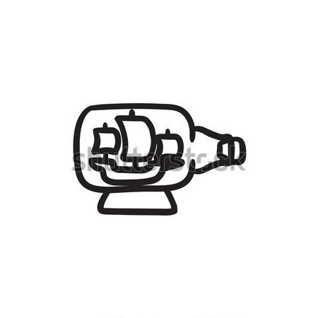 Ship inside bottle sketch icon. Stock photo © RAStudio