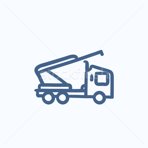 Machine with a crane and cradles sketch icon. Stock photo © RAStudio