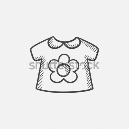 Baby sciolto giacca sketch icona vettore Foto d'archivio © RAStudio