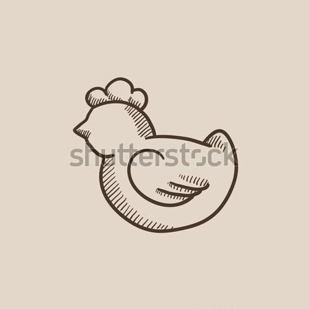 Chick sketch icon. Stock photo © RAStudio