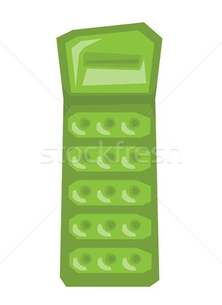 надувной матрац зеленый вектора дизайна иллюстрация Сток-фото © RAStudio