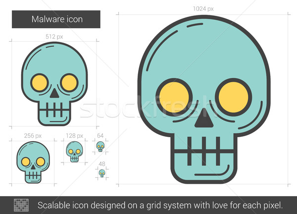 Malware line icon. Stock photo © RAStudio