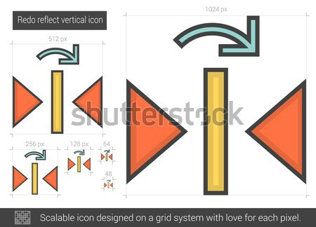 Redo reflect vertical line icon. Stock photo © RAStudio