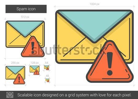 Spam hat ikon vektör yalıtılmış beyaz Stok fotoğraf © RAStudio