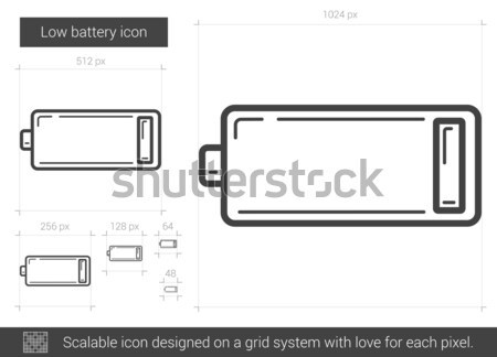 Low battery line icon. Stock photo © RAStudio