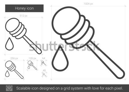 Honey dipper sketch icon. Stock photo © RAStudio