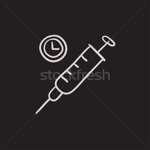 Syringe sketch icon. Stock photo © RAStudio