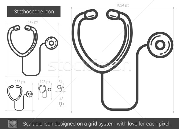 Stethoscope line icon. Stock photo © RAStudio
