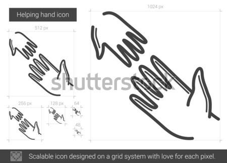 Ferida linha ícone vetor isolado branco Foto stock © RAStudio