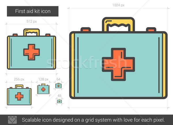 Pierwsza pomoc line ikona wektora odizolowany Zdjęcia stock © RAStudio