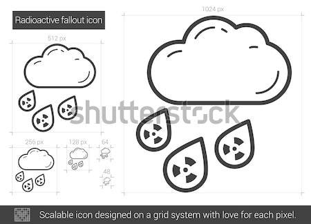 Radioactieve lijn icon vector geïsoleerd witte Stockfoto © RAStudio