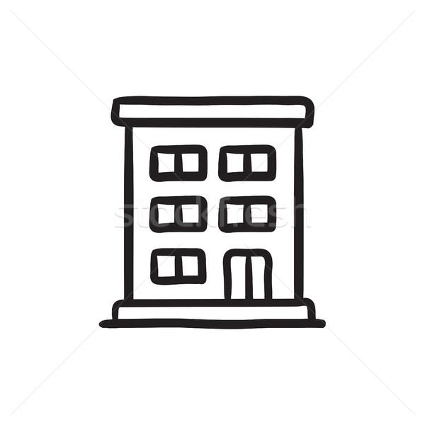 Residential building sketch icon. Stock photo © RAStudio