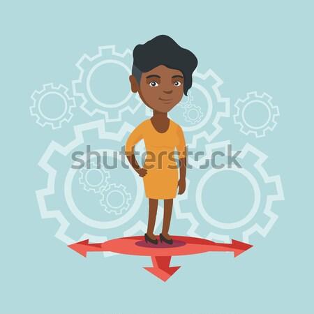 Stockfoto: Man · kiezen · carriere · manier · zakenman · denken