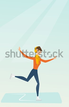 Female figure skater vector illustration. Stock photo © RAStudio