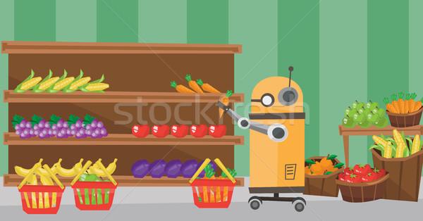 The use of robotic technologies in shopping. Stock photo © RAStudio