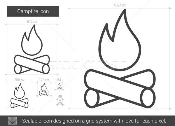Campfire line icon. Stock photo © RAStudio