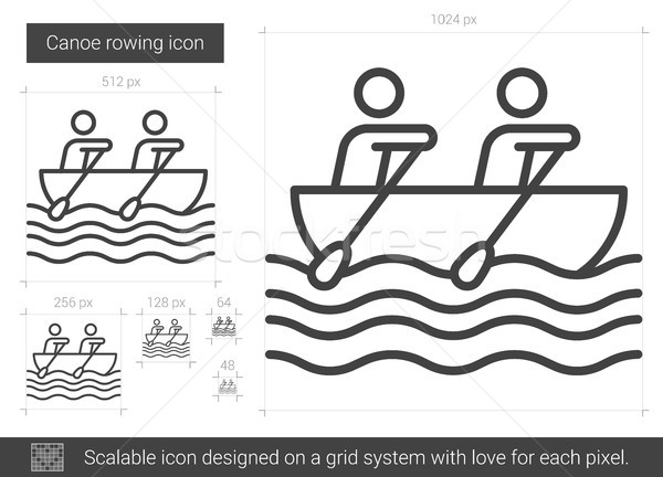 Canoe rowing line icon. Stock photo © RAStudio