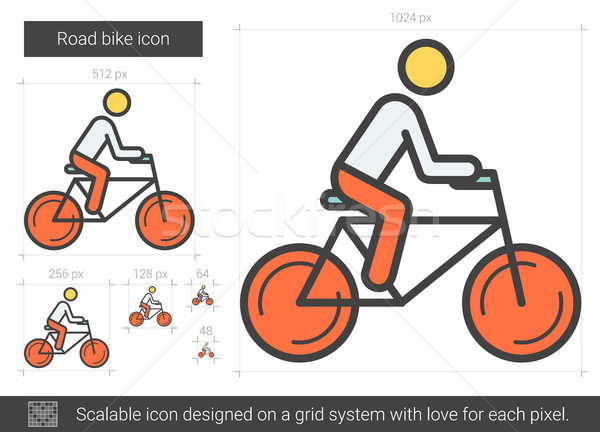 Strada bike line icona vettore isolato Foto d'archivio © RAStudio