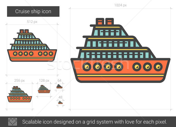 Cruise ship line icon. Stock photo © RAStudio