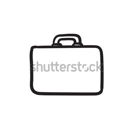 Briefcase sketch icon. Stock photo © RAStudio