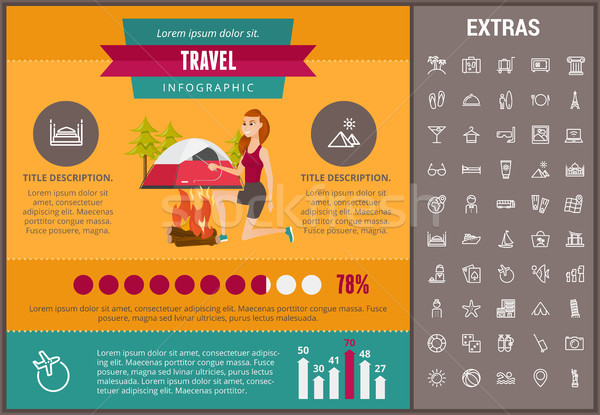 Stock photo: Travel infographic template, elements and icons.