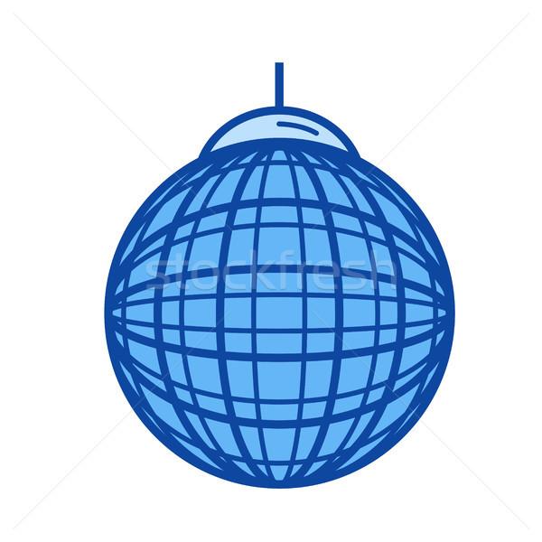 Party ball line icon. Stock photo © RAStudio