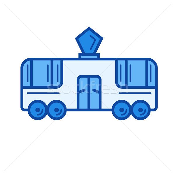 Tram line icona vettore isolato bianco Foto d'archivio © RAStudio
