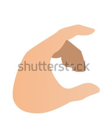 Hand holding something by bending fingers. Stock photo © RAStudio