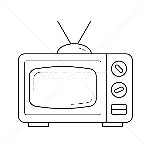 Retro TV line icon. Stock photo © RAStudio