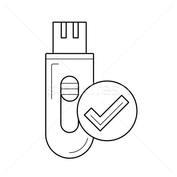 Hat ikon vektör yalıtılmış beyaz Stok fotoğraf © RAStudio