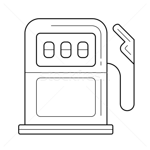 Station d'essence vecteur ligne icône gaz station d'essence Photo stock © RAStudio
