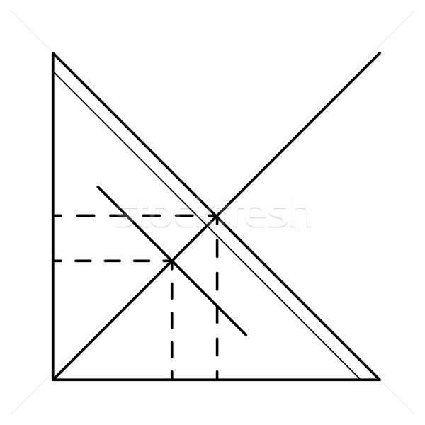 Funkció grafikon vektor vonal ikon izolált Stock fotó © RAStudio