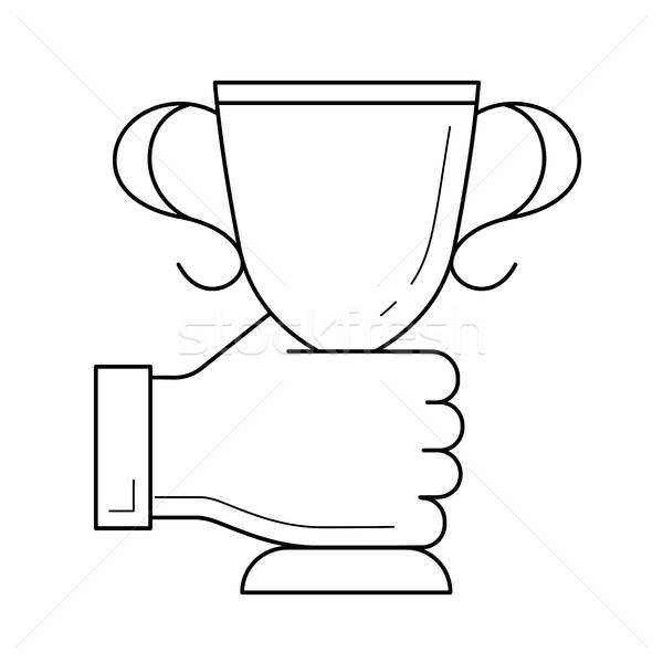 Award vector line icon. Stock photo © RAStudio