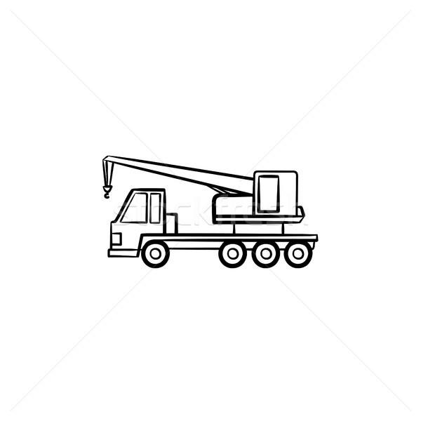 Mobile crane hand drawn sketch icon. Stock photo © RAStudio
