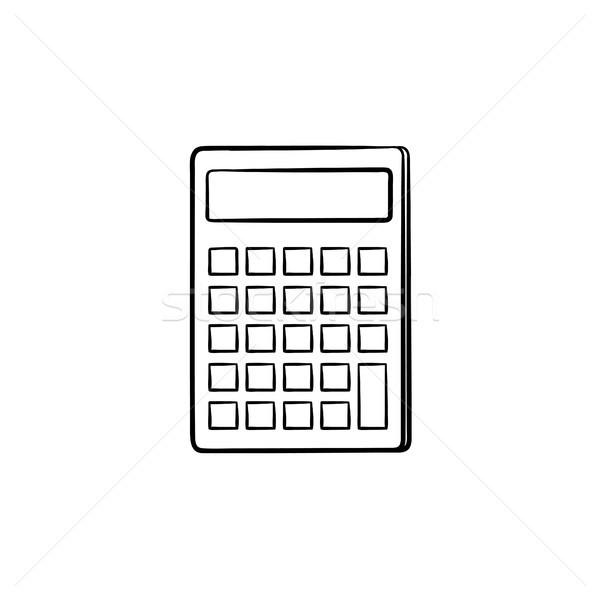 Calculator for count hand drawn sketch icon. Stock photo © RAStudio
