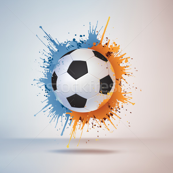 Futbol Topu Boya Yangın Spor Futbol Top Vektör