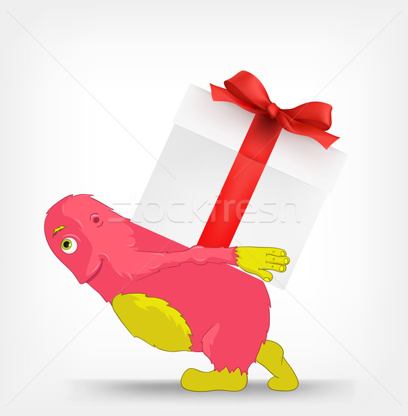 Funny Monster. Gift. Stock photo © RAStudio
