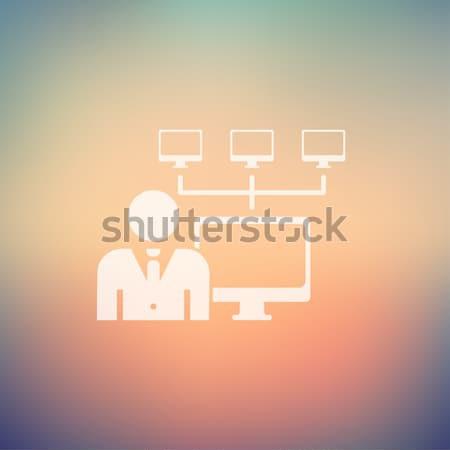 ícone brilhante vetor pictograma eps 10 Foto stock © RAStudio