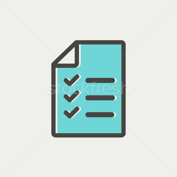 Checklist list thin line icon Stock photo © RAStudio