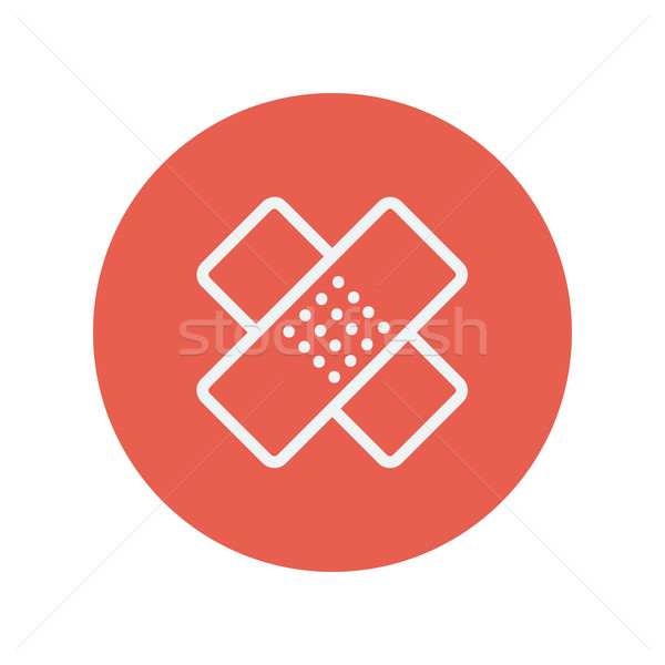 Adhesive bandage thin line icon Stock photo © RAStudio
