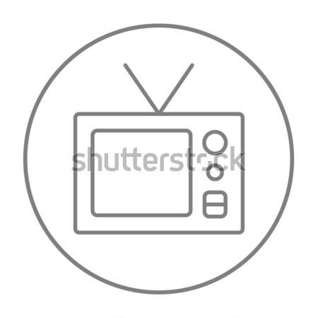 Vintage television thin line icon Stock photo © RAStudio