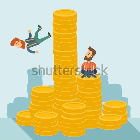 Failed and successful asian businessmen. Stock photo © RAStudio