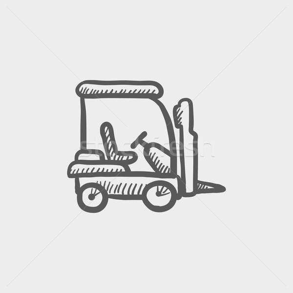 Golf cart sketch icon Stock photo © RAStudio