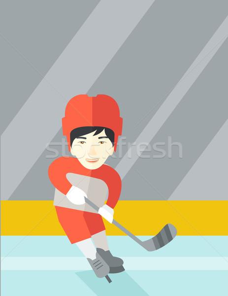 Hockey player at rink. Stock photo © RAStudio