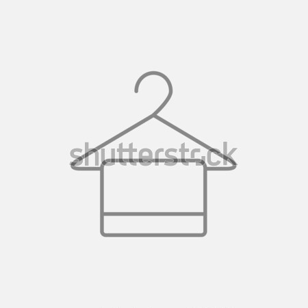 Handdoek hanger lijn icon web mobiele Stockfoto © RAStudio
