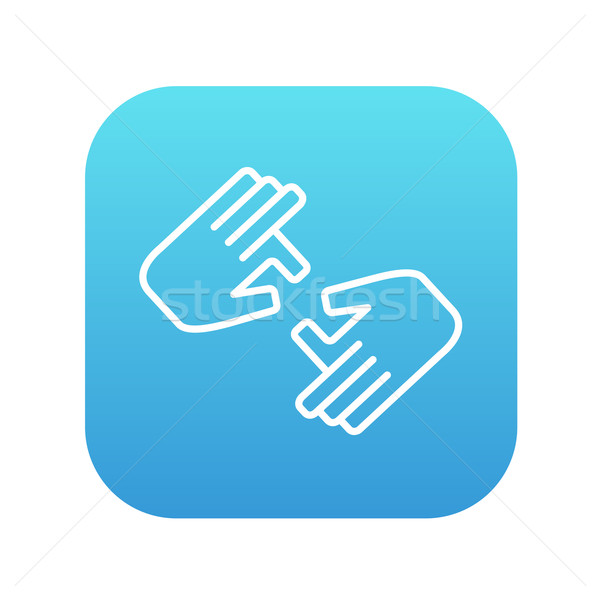 Finger Sprache line Symbol Web mobile Stock foto © RAStudio