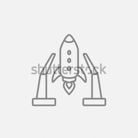 űr felszállás vonal ikon háló mobil Stock fotó © RAStudio